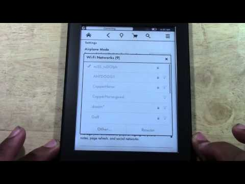 Kindle Paperwhite - How to Connect to Wifi​​​ | H2TechVideos​​​