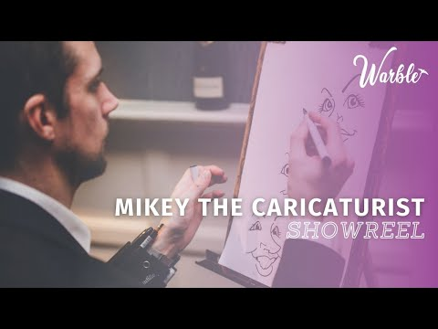 The Midlands Caricatrist // Showreel // Book Now at Warble Ents.