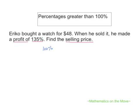 Percentages Greater than 100 Percent