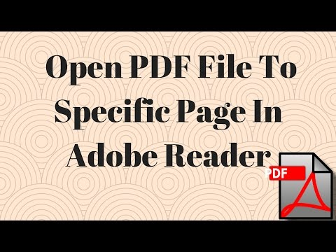 How to Open PDF file to Specific Page in Adobe Reader
