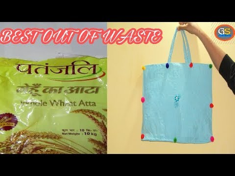 How To Reuse Plastic Bag-Patanjali Whole Wheat Atta Bag-Best Out Of Waste-Hand Made.