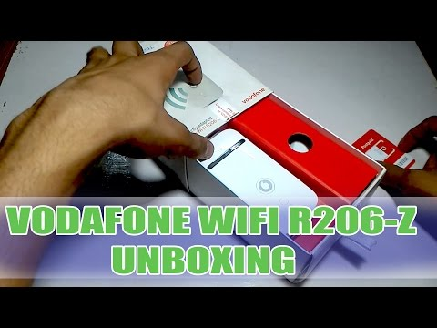 Vodafone Mobile Wi-Fi R206-Z UNBOXING