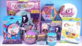 Hairdorables DOLLS Series 2 PETS LOL Surprise Glitter Disney TSUM TOYS Unboxing FUN