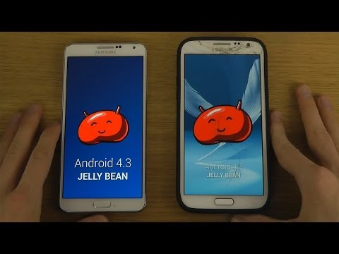 Android 4.3 Jelly Bean: Samsung Galaxy Note 2 vs. Android 4.3 Samsung Galaxy Note 3 - Review