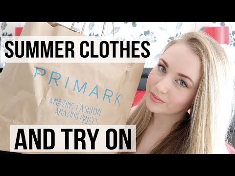 PRIMARK HAUL SUMMER / HOLIDAY CLOTHES MARCH 2018 - TRY ON HAUL - A CHILDMINDING MUMMY