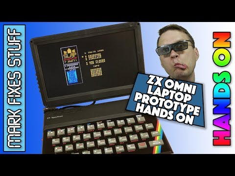 ZX Spectrum Omni 128 HQ Laptop Review and Hands On test. ZX Omni!