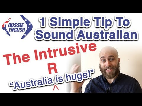 How to Pronounce the Intrusive R | Australian Pronunciation | Aussie Accent