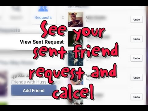 How to check and cancel sent friend request on mobile