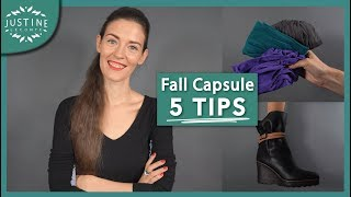 Download Capsule wardrobe: 5 tips to transition from summer to fall + free template ǀ Justine Leconte Video
