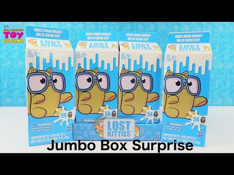 Lost Kitties Jumbo Surprise Hidden Cat Blind Bags Toy Review | PSToyReviews