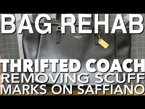 HANDBAG REHAB FT. THRIFTED COACH TOTE - CLEANING AND REMOVING SCUFF MARKS ON SAFFIANO