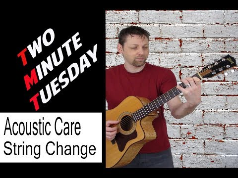 Acoustic Guitar Cleaning and String Changing