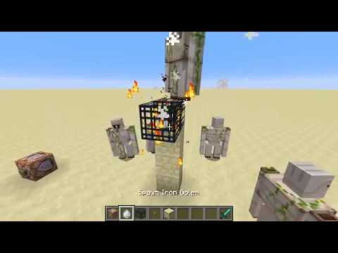How to get a Iron Golem Spawner in 1.12 Creative (Working)