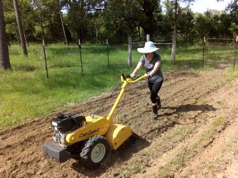 Preparing our new garden