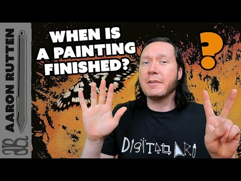 7 Ways to Know When a Painting is Finished - Digital Artist Vlog