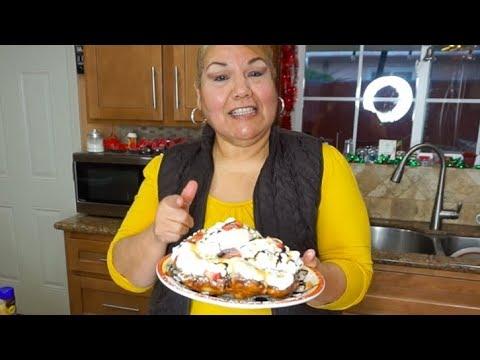 FUNNEL CAKE!! RECETA FACIL!!