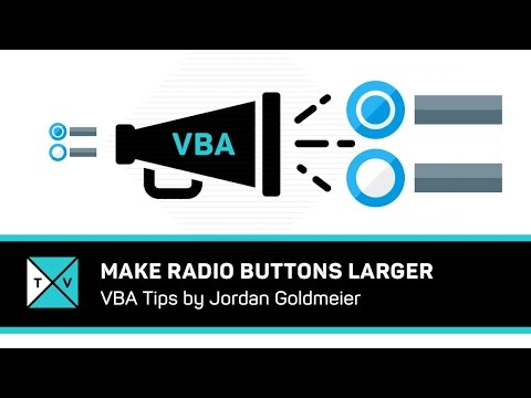 How To Make Radio Buttons Larger With Excel VBA