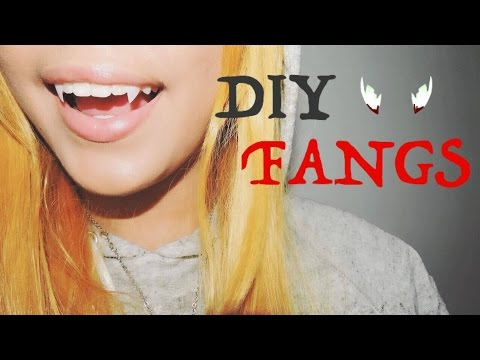 How to make FANGS cheap and easy | Halloween series♥