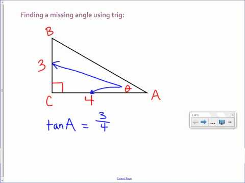 Finding a Missing Angle with Trig