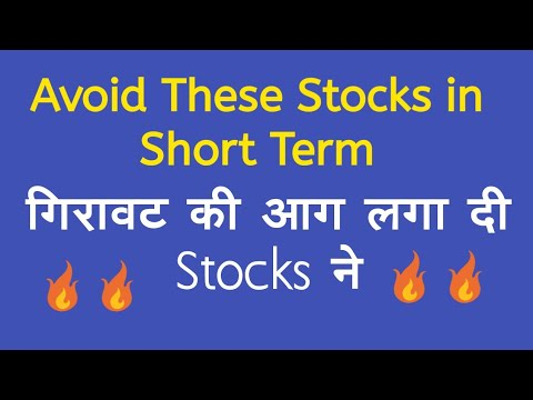 Avoid These Stocks in Short Term - 50% Plus Down in Just a Month