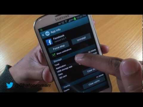 How to Stop Notifications on Samsung Galaxy S3 with Jelly Bean 4.1.2