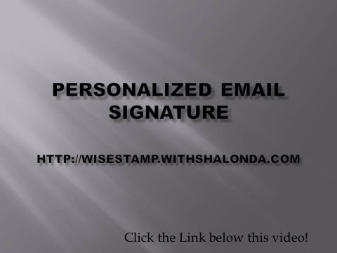 Create Your Own Professional Email Signature {Email Signature}