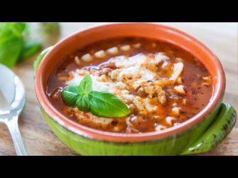 CHEESY LASAGNA SOUP RECIPE - Comfort Food
