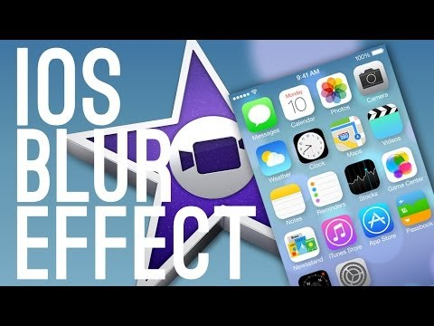 How To Make A Blurred Background for iOS Screen! - iMovie Tutorial