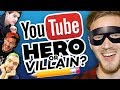 Drawing YOUTUBERS As HEROES And VILLAINS