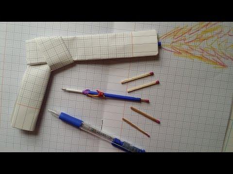 How to make a Flare Gun   Paper Gun Auto Shoots