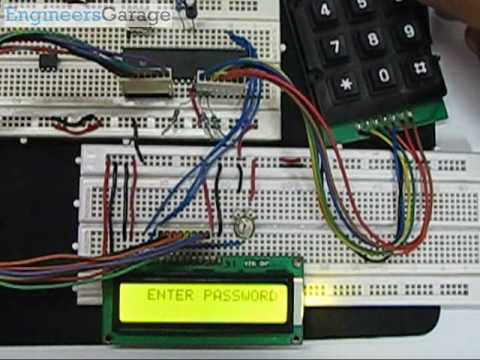Electronic Keypad Lock Project using 8051 Microcontroller (At89C51) with circuit & C code