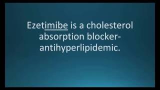 How to pronounce ezetimibe (Zetia) (Memorizing Pharmacology Flashcard)