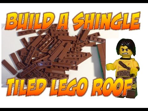 How to build a Lego Shingled Roof with Tiles