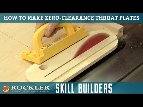 How to Make Zero Clearance Throat Plate Inserts for Table Saws | Rockler Skill Builders