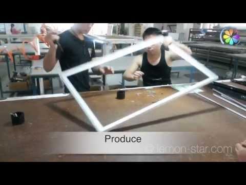 How to make acrylic led light box -