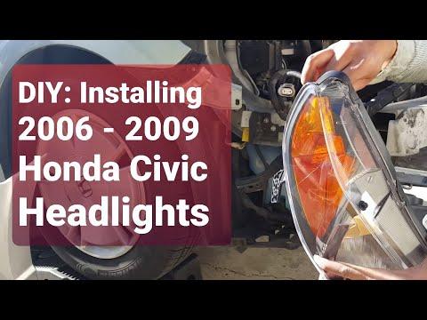 DIY: Installing Honda Civic Headlights 2006 -2009!