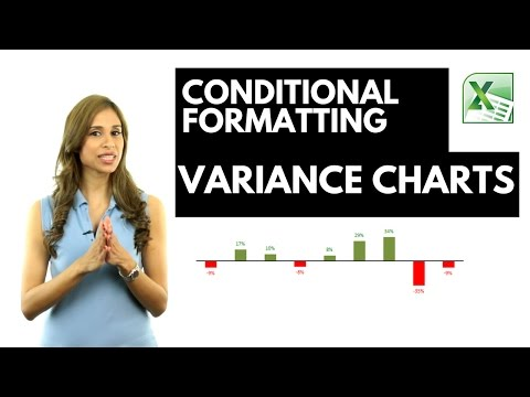 Excel Variance Charts: Conditional Formatting Bar / Column charts in Excel and data labels