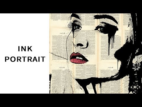 How to Create Ink Portraits | Photoshop Tutorial | Pop Art