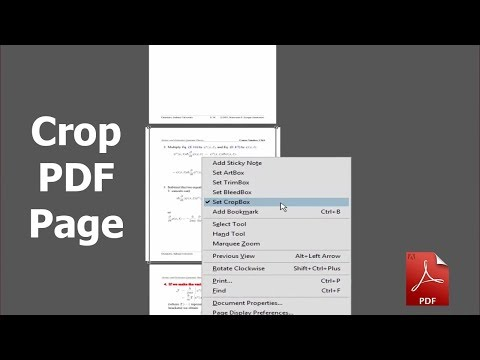 How to crop PDF Page by using adobe acrobat pro