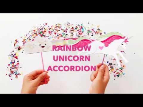 Rainbow Unicorn Accordion Paper Craft