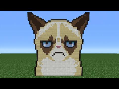 Minecraft Tutorial: How To Make Grumpy Cat