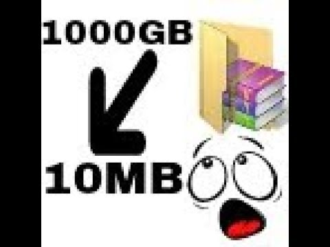 How to Make Highly Compressed File [1000mb to 10MB] With Rar    TECHNICAL JUTT