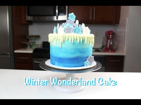 How to Make a Winter Wonderland Cake | CHELSWEETS