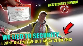 I can't believe we got away with this.. OVERNIGHT CHALLENGE IN UK'S BIGGEST CINEMA!