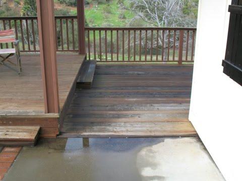 Moisture And Debris Can Cause Problems for Below Ground Decks - Deck Building