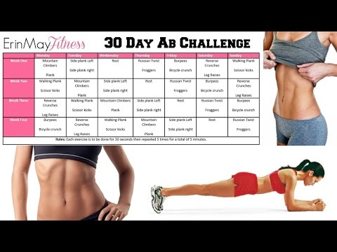 GET ABS FAST| Erinmayfitness 30 Day Ab Challenge ♡