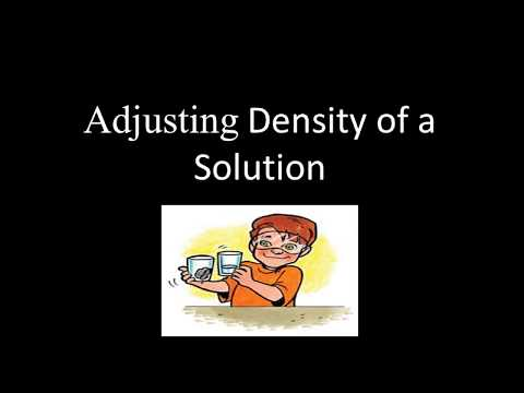 How to get desired density of a solution
