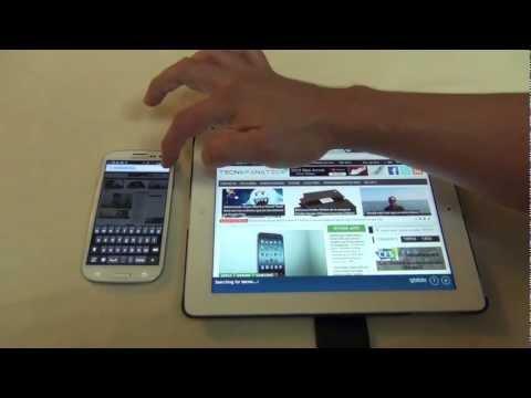 Aplicacion Google Chrome vista en el iPad, Samsung Galaxy S III y iPhone
