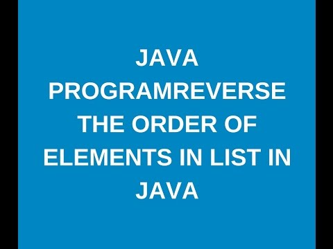 How to reverse the order of elements in arraylist in java?