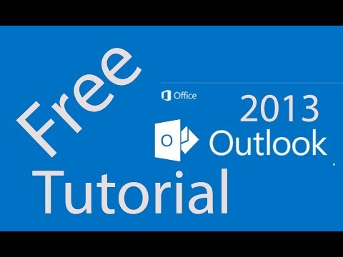 09. Adding a Facebook and LinkedIn account using the Social Connector [Tutorial Outlook 2013]